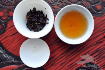First Steep of GABA Tea
