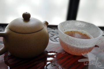 Chinese Teapot and Japanese Glass Cup