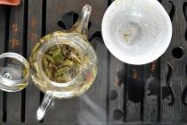 Tea Leaves in Water