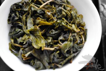 Wet Leaves of Taiwanese Oolong