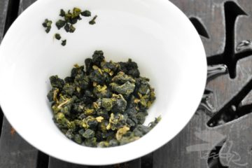 Rolled Oolong Leaves After Rinse