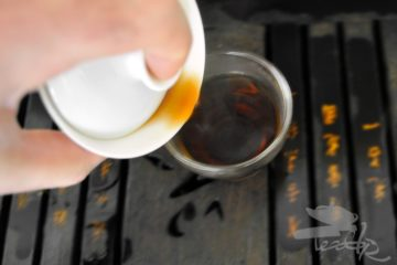Pouring Pu-erh to the Cup
