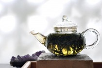 Teapot with Chinese Green Tea