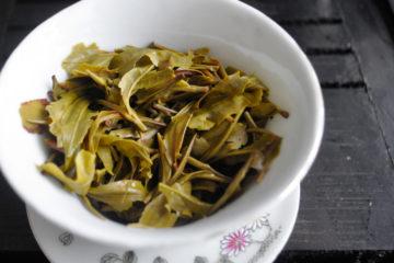 Tea leaves after 4th steep