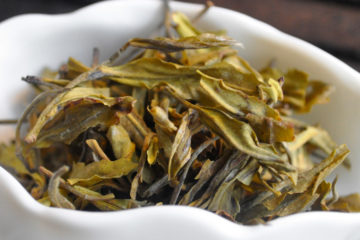 Indian green tea leaves